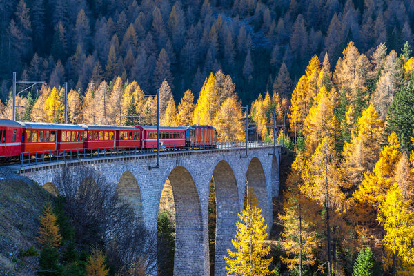 Bernina Express, Switzerland.