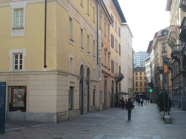 The Musée cantonal d'Art de Lugano, Italy.