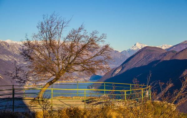 At the summit of Monte San Salvatore