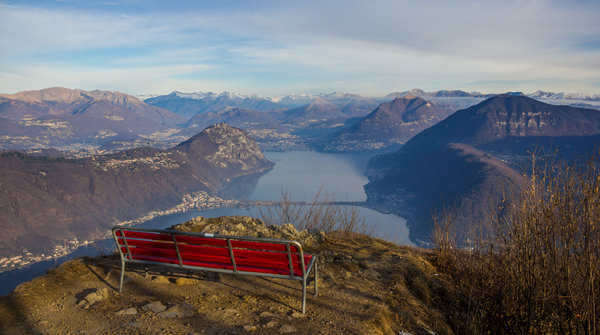 A view from Monte San Giorgio summit on Lugano
