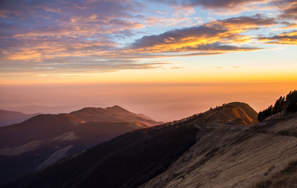 A view from Monte Generoso at sunset