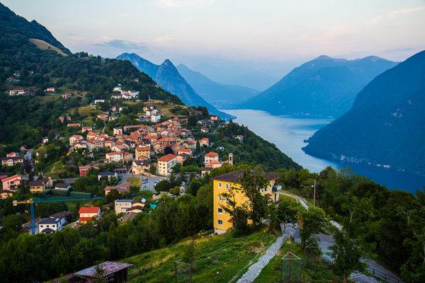 A small village Bre sopra Lugano (literally, Bre above Luguano)