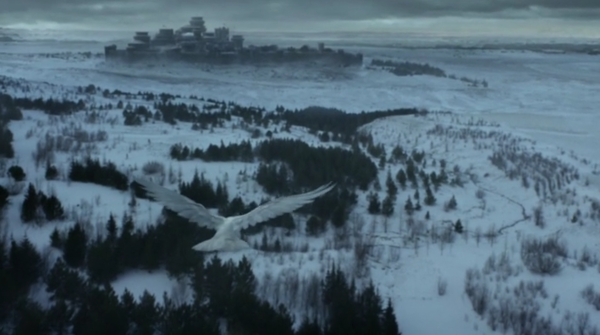 In season 6 we see Winterfell during winter.