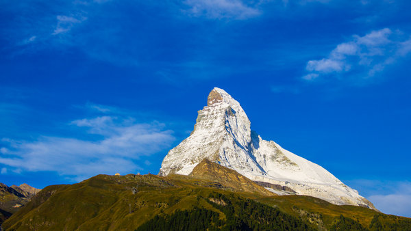 Matterhorn early in the morning - a view from Zermatt