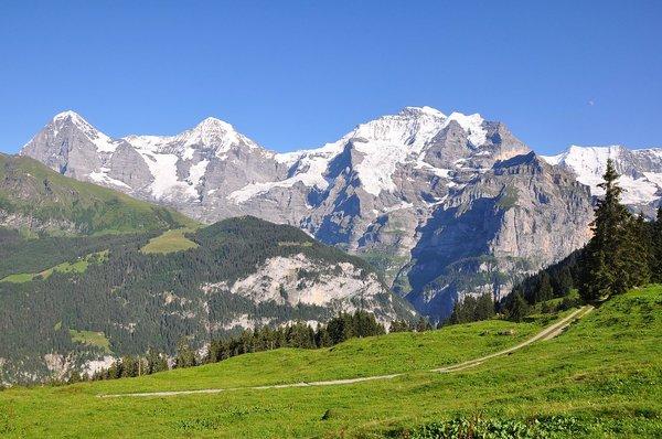 The summit triumvirate Eiger, Mönch and Jungfrau