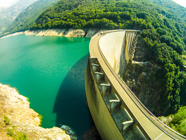 Contra Dam, commonly known as the Verzasca Dam and the Locarno Dam, is located in Ticino, Switzerland