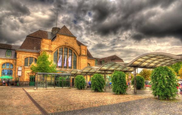 Railway station of Koblenz, Germany
