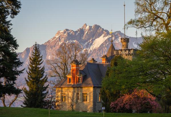Lucerne Conservatorium and Mount Pilatus
