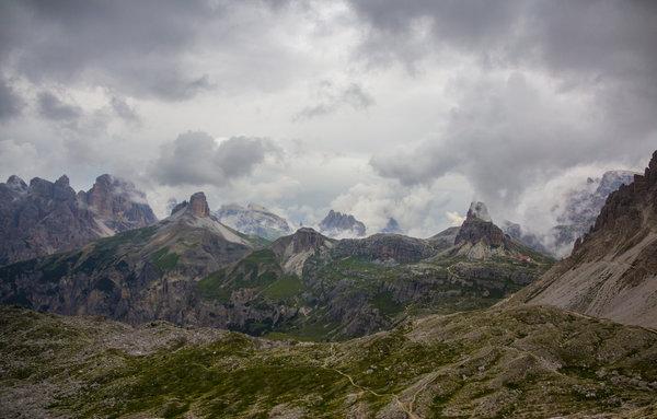Unearthly landscape at theTre Cime di Lavaredo