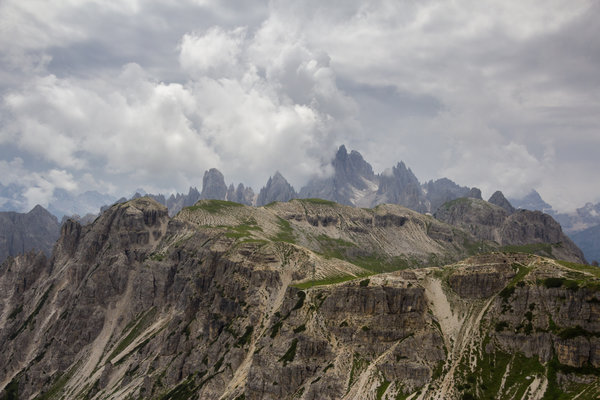 A view near the Lavaredo mountain hut