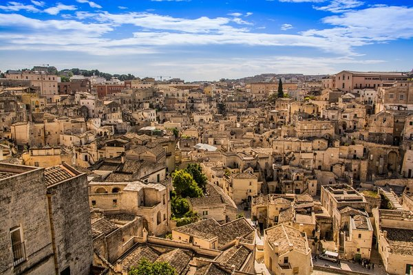 Day view from Matera, Italy