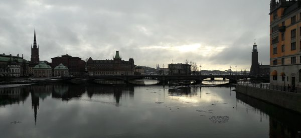 View towards Riddarholmen and Stockholm Stadshus