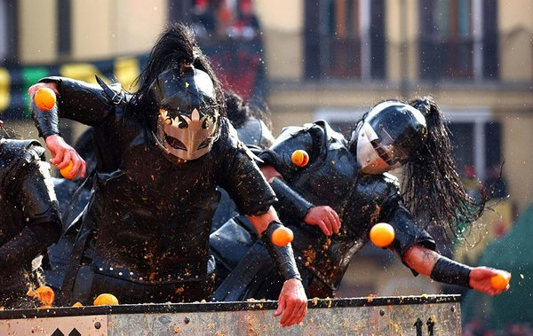 Ivrea, the battle of the oranges. Beware the flying object, they really hurt