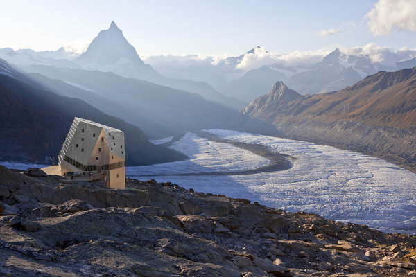 The landscape is ethereal, the Monte Rosa hut just adds some futuristic zest.