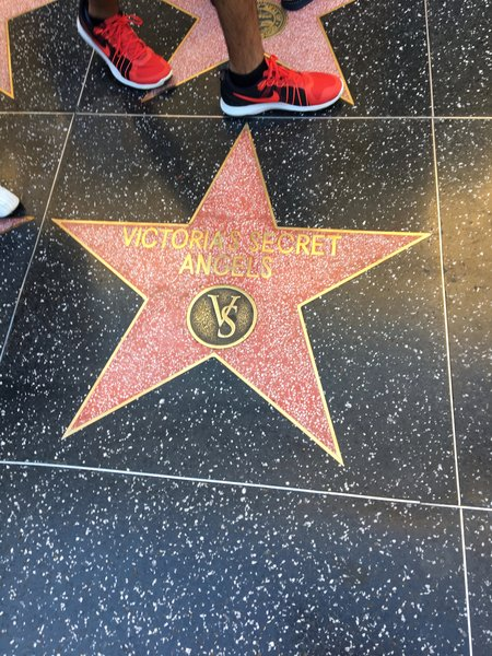 Victoria Secret Angels' Star at the Walk of Fame