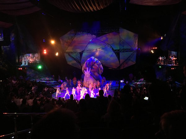 The end of the show at Cirque du Soleil