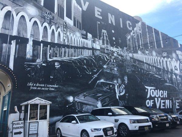Venice Beach Parking Lot featuring Beautiful Street Art