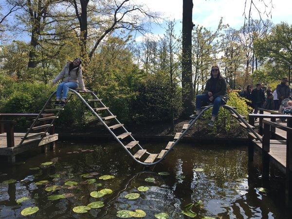 Fun bridges at the Keukenhof