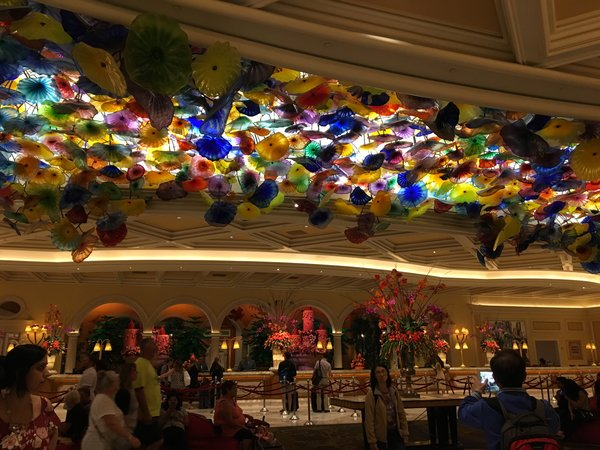 Glass Ceiling Decoration at the Bellagio