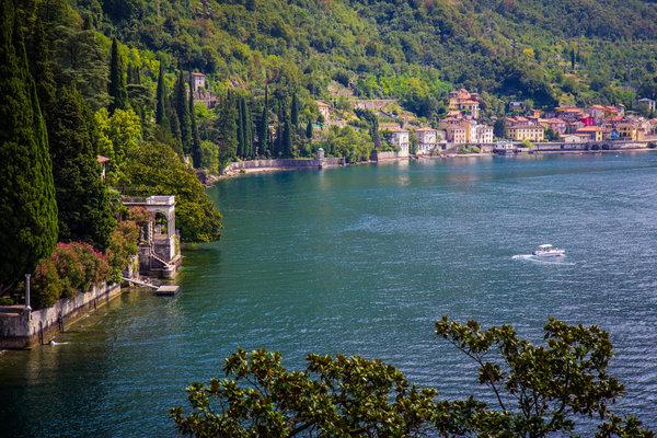 A view from Villa Monastero gardens in Varenna (CO), Italy