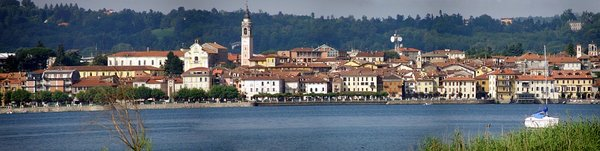 A View of the city.  Lake Maggiore, Italy.