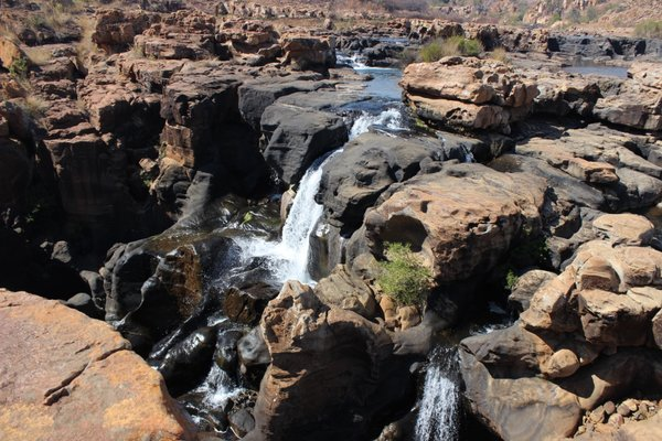 Bourke's Luck Potholes during a visit to the Blyde River Canyon of South Africa