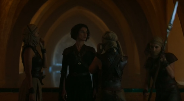 Ellaria Sand meet her Sand Snakes by what is known inside the palace as, the Maria de Padilla's bath