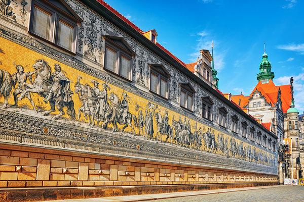 Furstenzug - Procession of Princes in Dresden