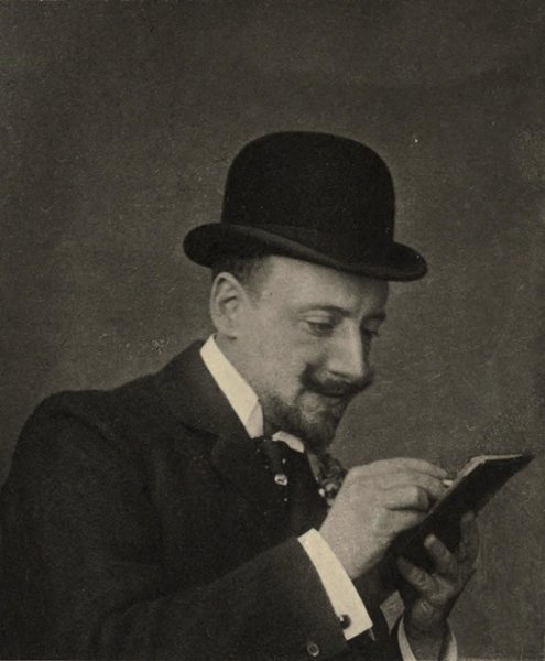 Gabriele D'Annunzio reading. Italy.
