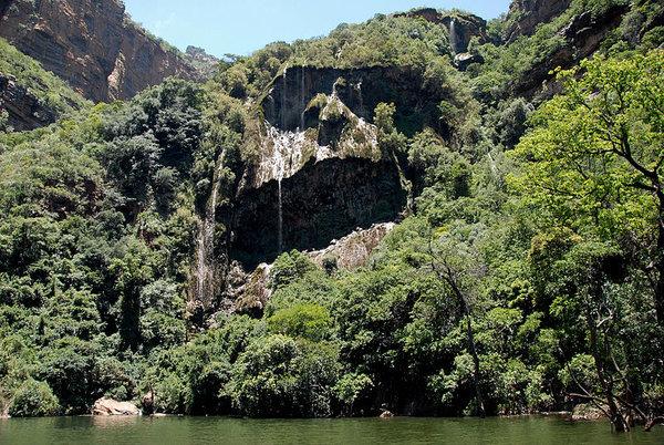 Kadish Tufa waterfall at the Blyde River Canyon South Africa