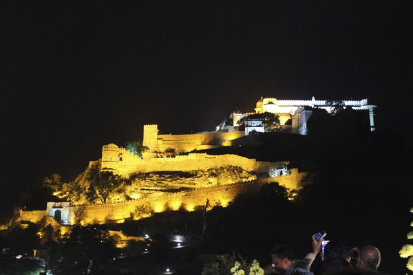 Kumbhalgarh Fort during the evening show time