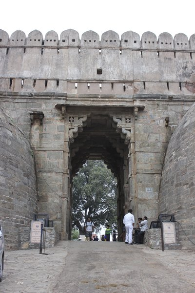 One of the main entry gates into  Kumbhalgarh Fort.  India. (Photo Credit: MBS Photography)