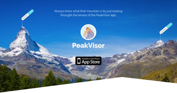 PeakVisor app banner