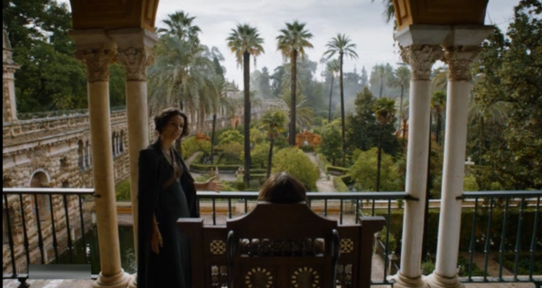 Prince Doran of House Martell in argument with Ellaria Sand.  GOT Season 5: Episode 2.
