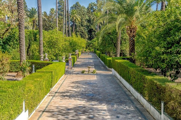The Alcazar Gardens. Seville, Spain.