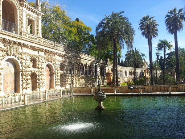 The Mercury Pond.  Alcazar or Seville, Spain.