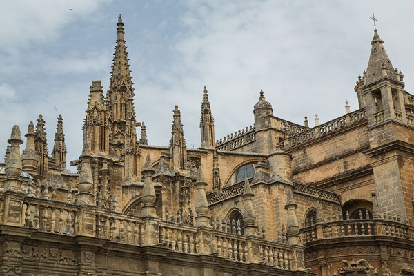 The Seville Cathedral.  Seville, Spain.